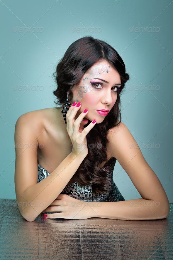Glamorous woman - Stock Photo - Images