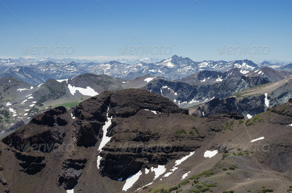 Sierra Nevada Mountain Landscape - Stock Photo - Images