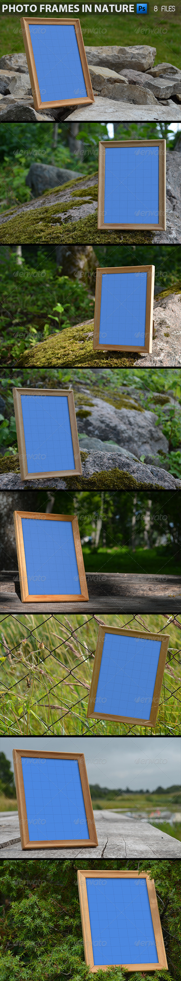 Photo Frames in Nature - Nature Photo Templates