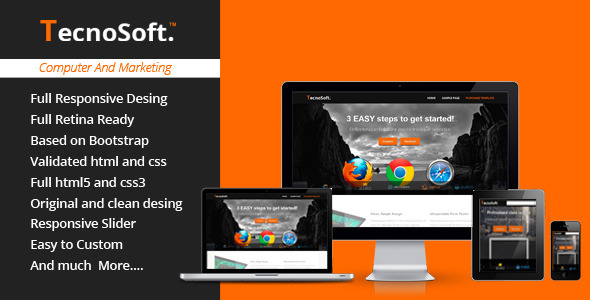 ThemeForest TecnoSoft Computer Apps Landing Page Theme 5268324