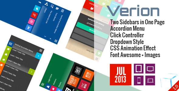 Verion - Widget Accordion Sidebar CSS - CodeCanyon Item for Sale