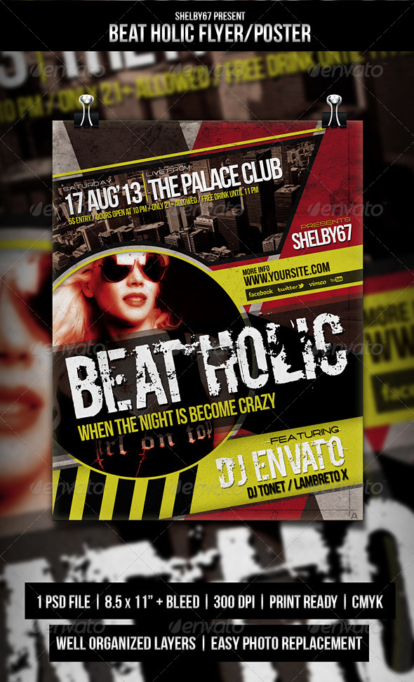 GraphicRiver Beat Holic Flyer Poster 5268847
