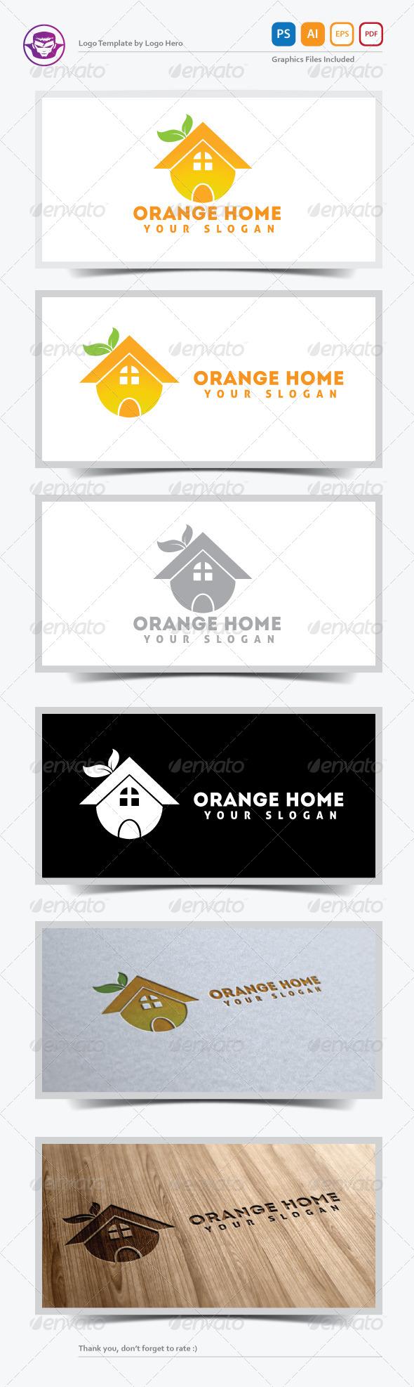 GraphicRiver Orange Home Logo Template 5268855