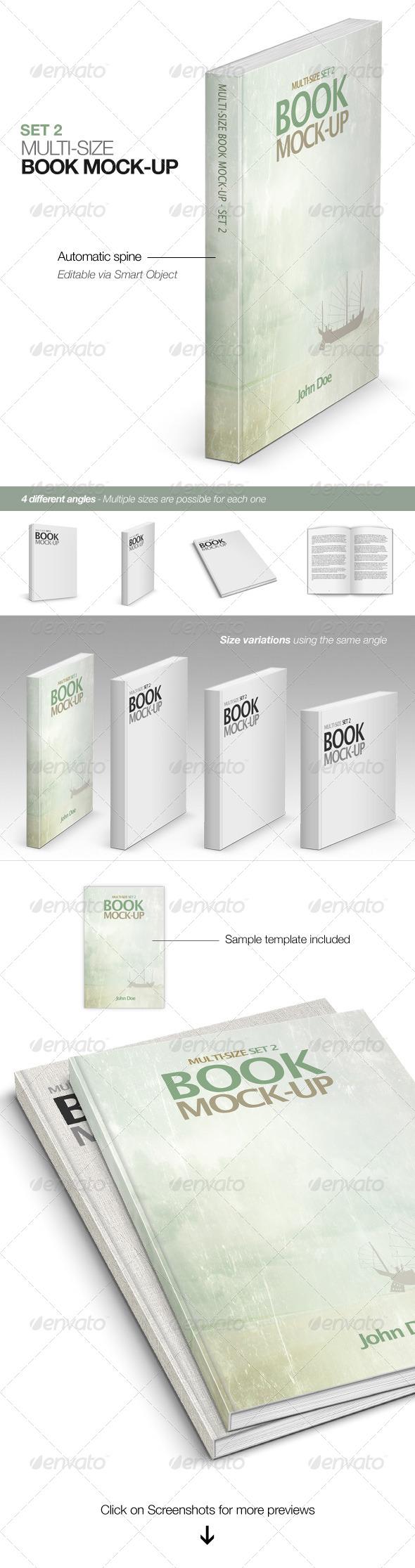GraphicRiver Multi-size Book Mockup Set 2 5268874