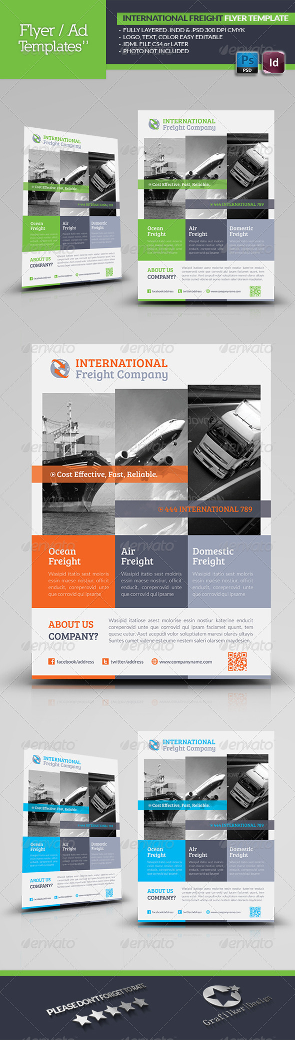 GraphicRiver International Freight Flyer Template 5269136