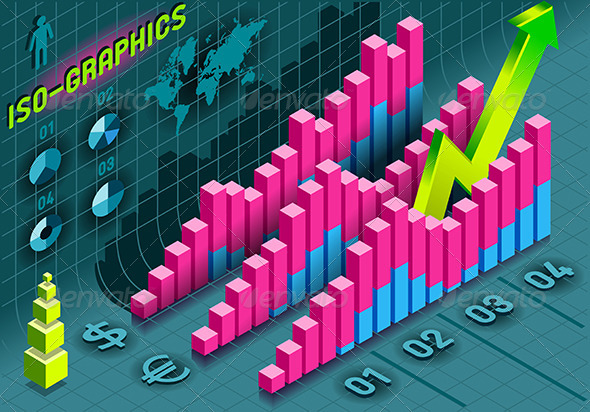 GraphicRiver Isometric Infographic Histogram Set Elements 5269344