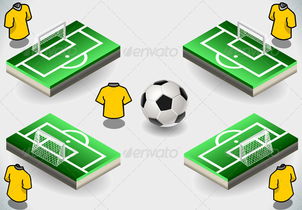 GraphicRiver Set of Soccer Penalty Area and Icons 5269346