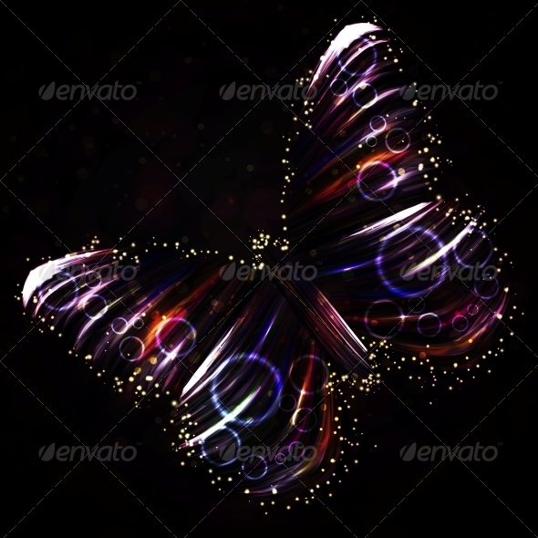 GraphicRiver Shiny Butterfly Abstract Vector 5269695