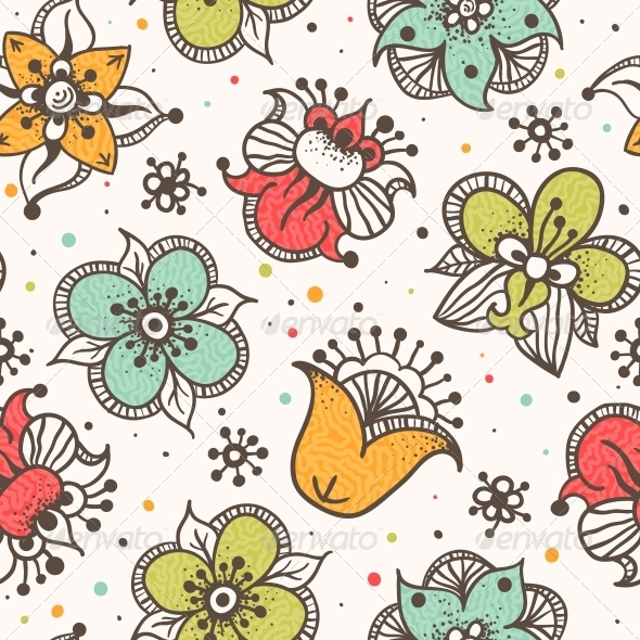 GraphicRiver Seamless Floral Pattern 5269861