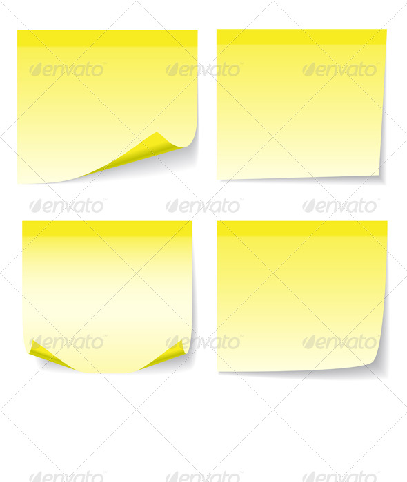 GraphicRiver Yellow Sheet of Paper 5270382