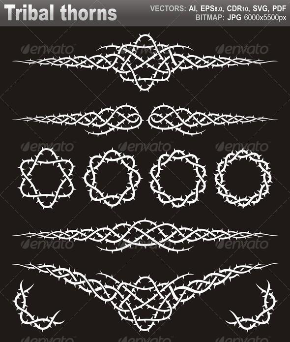 GraphicRiver Tribal Thorns 5270537