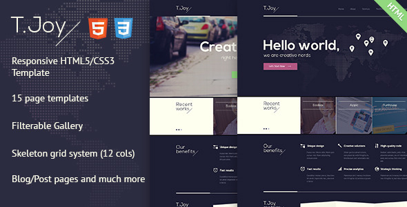 ThemeForest T.Joy Flat Multipurpose HTML Template 5270538