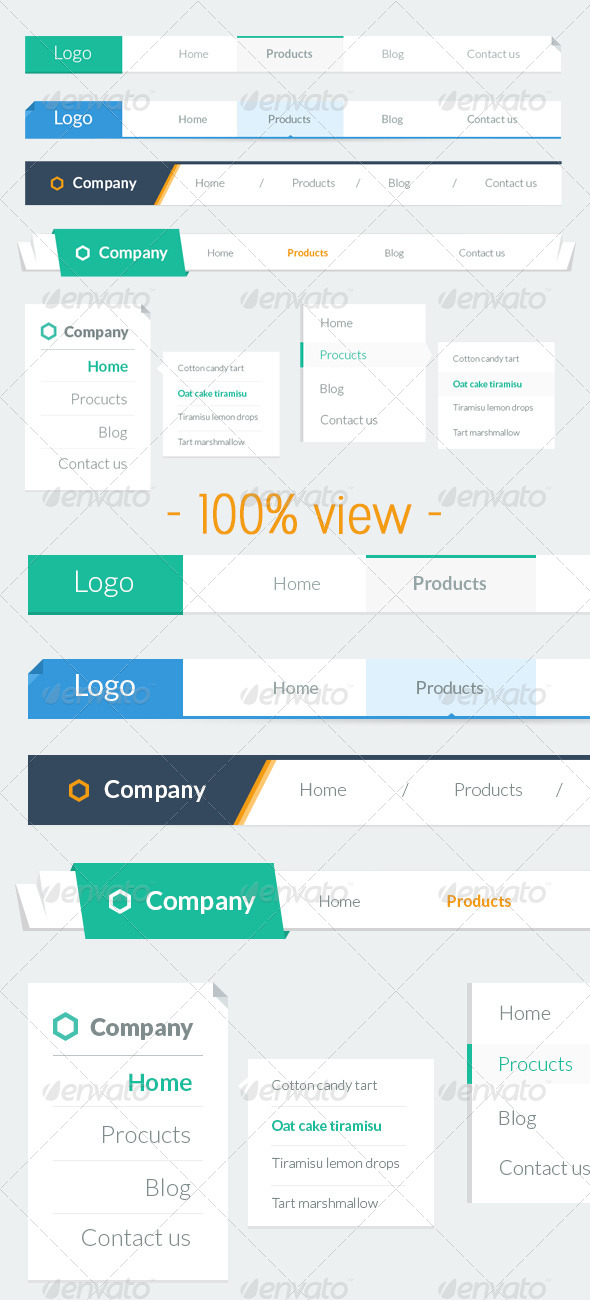 GraphicRiver Flat Navigation Bar 5270566