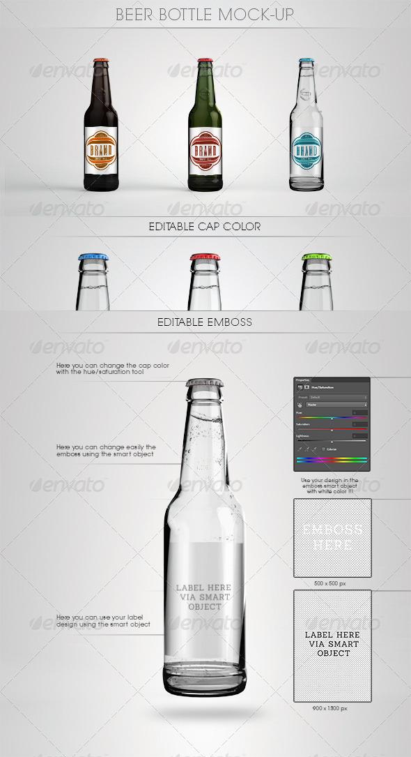 GraphicRiver Beer Bottle Mock-Up 5223115