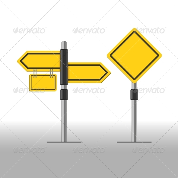 GraphicRiver Road Sign Template 5270723