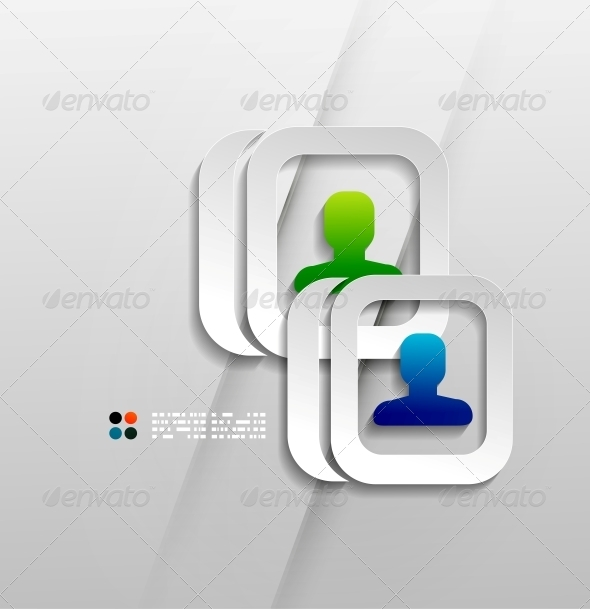 GraphicRiver Vector User Contacts Paper Design 5270754