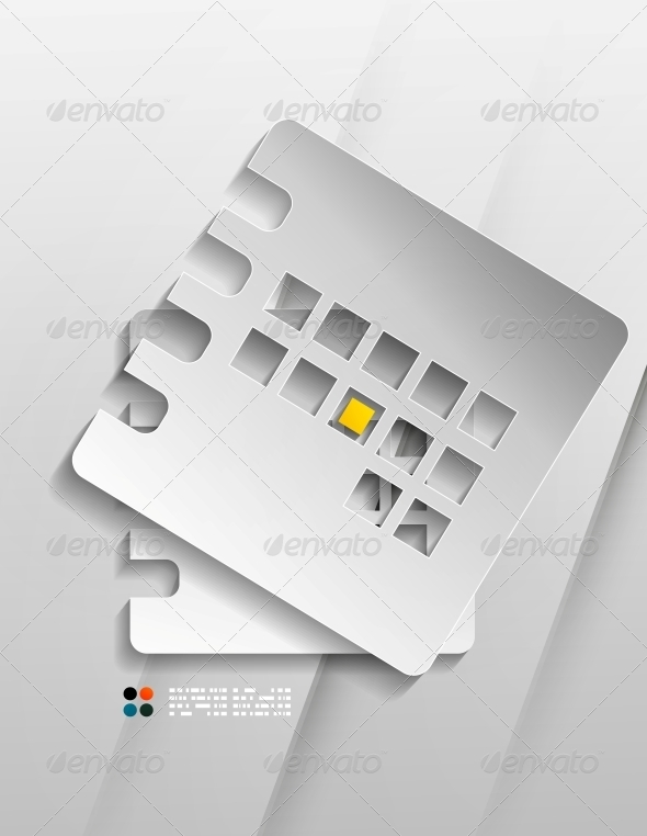 GraphicRiver Vector Calendar Organizer Paper Design 5270772