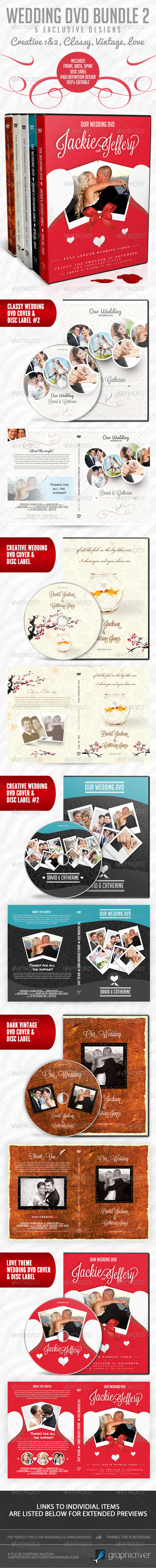 Wedding DVD Premium Bundle - 2 - CD & DVD artwork Print Templates