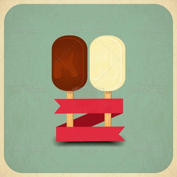 GraphicRiver Ice Cream Retro 5271047