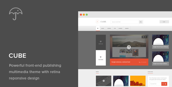 ThemeForest Cube Front-end Multimedia Publishing Theme 5248083