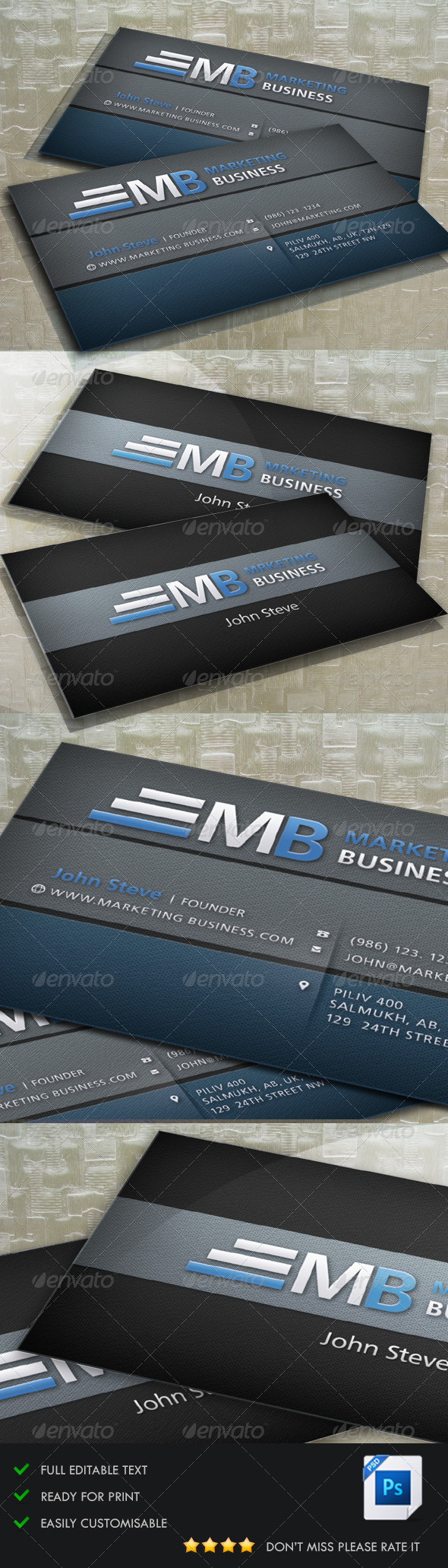 GraphicRiver Marketing Business Card 5224962
