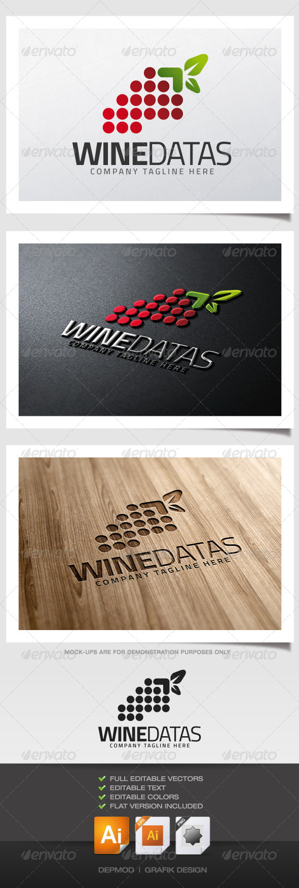 Wine Datas Logo - Symbols Logo Templates