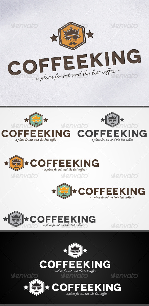 GraphicRiver CoffeeKing Coffee Shop Cafe Logo 5114767