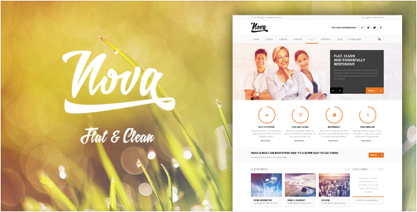 ThemeForest Nova Flat & Clean Responsive Theme 5186612