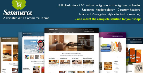 Sommerce Shop - Theme de tienda para WordPress
