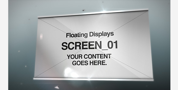After Effects Project - VideoHive Floating Displays 542012