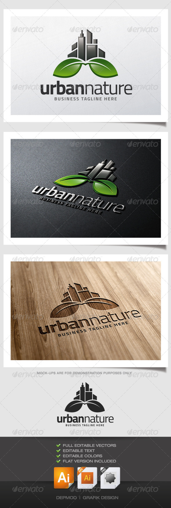 GraphicRiver Urban Nature Logo 5209472