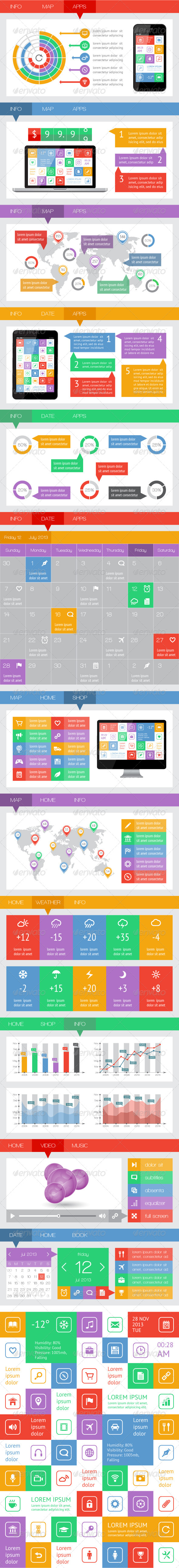 GraphicRiver Ui Infographics and Web Elements 5227240