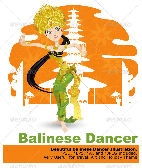 Balinese Dancer - Characters Vectors