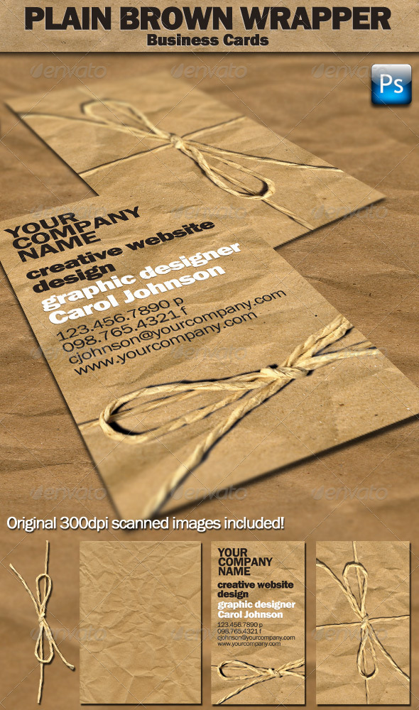 Plain Brown Wrapper Business Cards