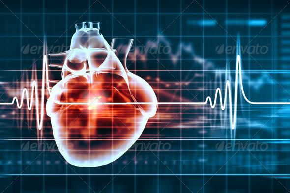 Human heart beats - Stock Photo - Images