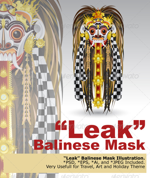 Leak Traditional Bali Demon Mask - Characters Vectors
