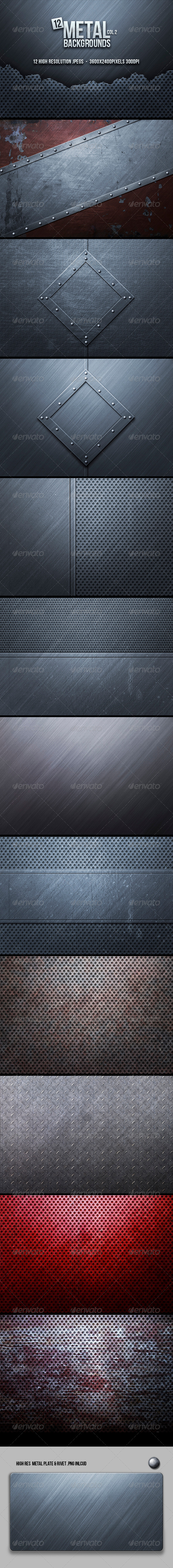 Metal Backgrounds Col2 - Backgrounds Graphics