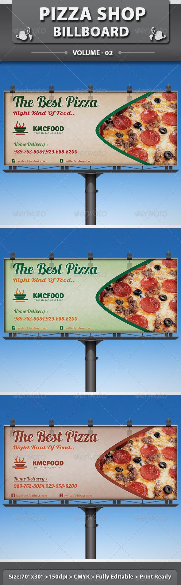 GraphicRiver Pizza Shop Business Billboard V2 5273440