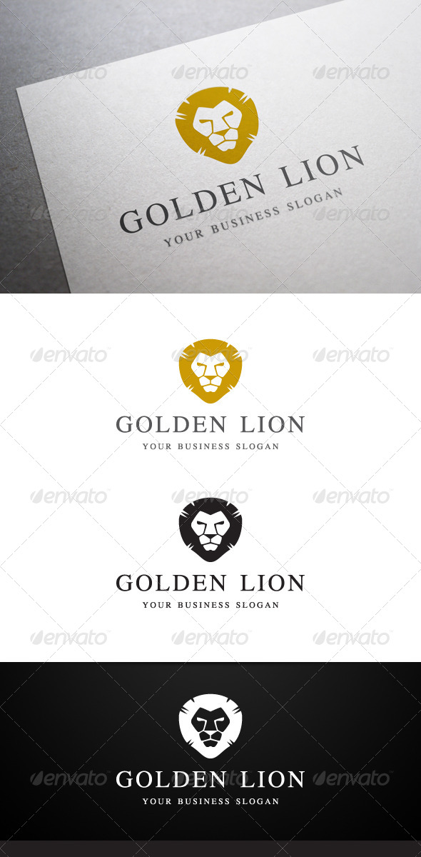 GraphicRiver Golden Lion Logo 5273529