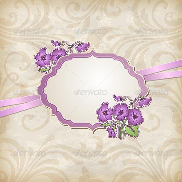 GraphicRiver Label and Violets 5273531