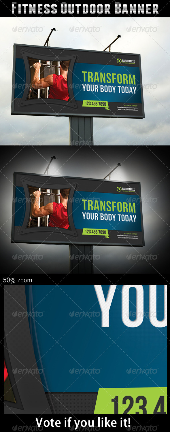Fitness Outdoor Banner - Signage Print Templates