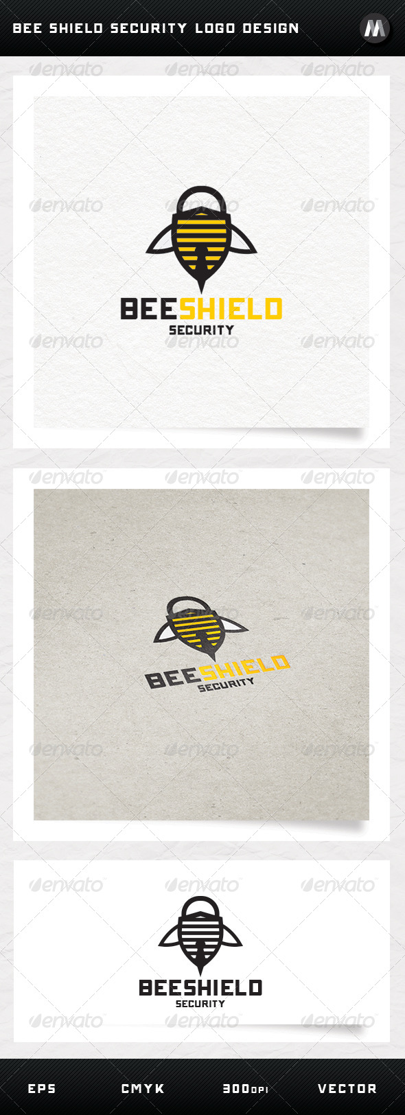 GraphicRiver Bee Shield Security Logo Design 5273755