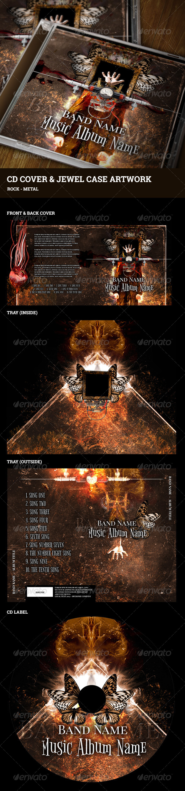 GraphicRiver CD Cover and Jewel Case Artwork 5273797