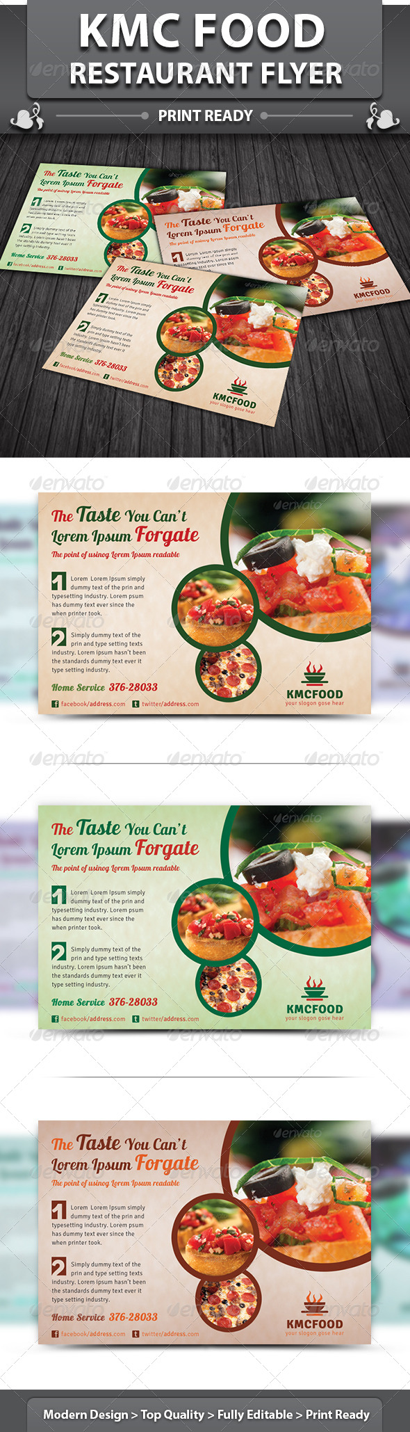 GraphicRiver KMC Food Restaurant Flyer 5273798