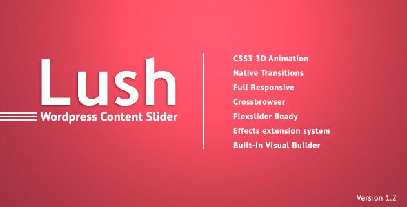 Lush - Content Slider for WordPress