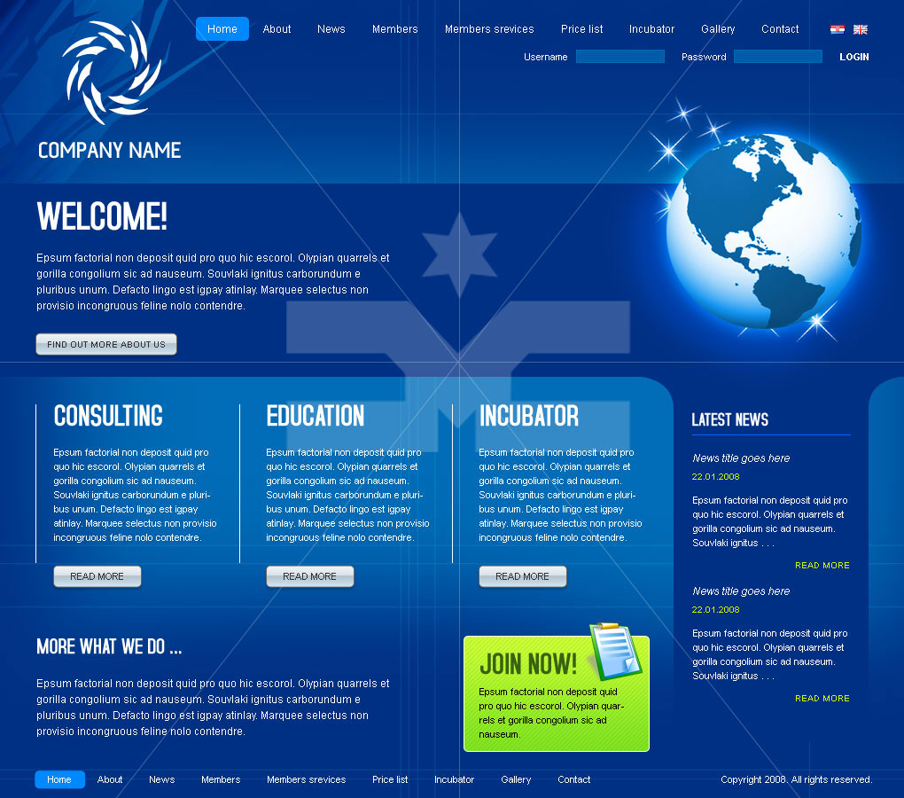 Company template- Blue