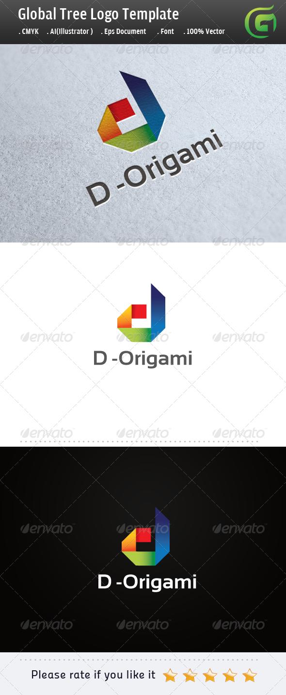 GraphicRiver D Origami Logo 5255267