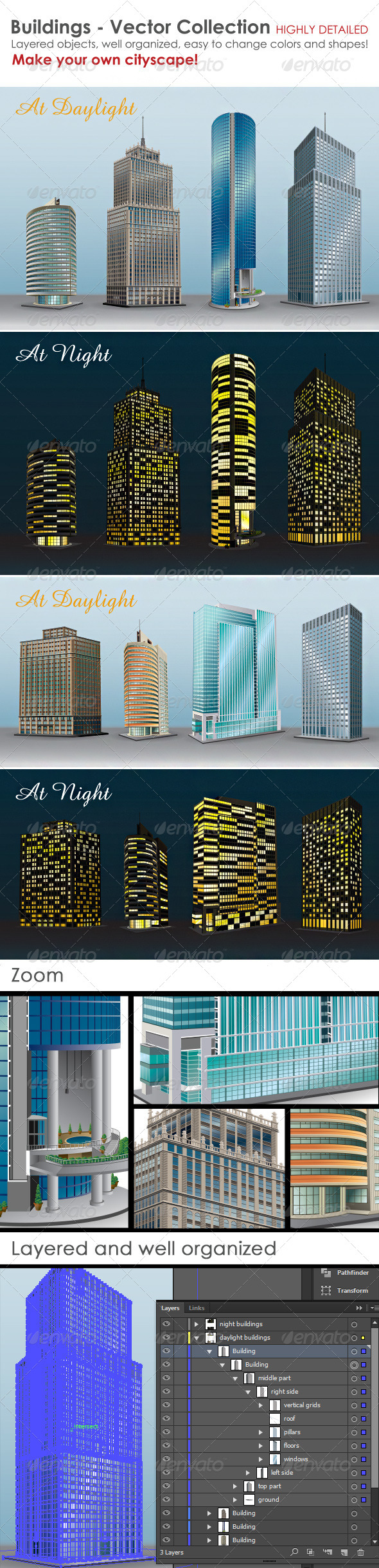 GraphicRiver Buildings Vector Collection 5274054