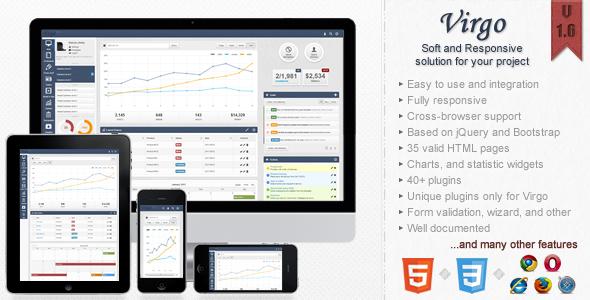 Virgo - Premium Admin Template - Admin Templates Site Templates