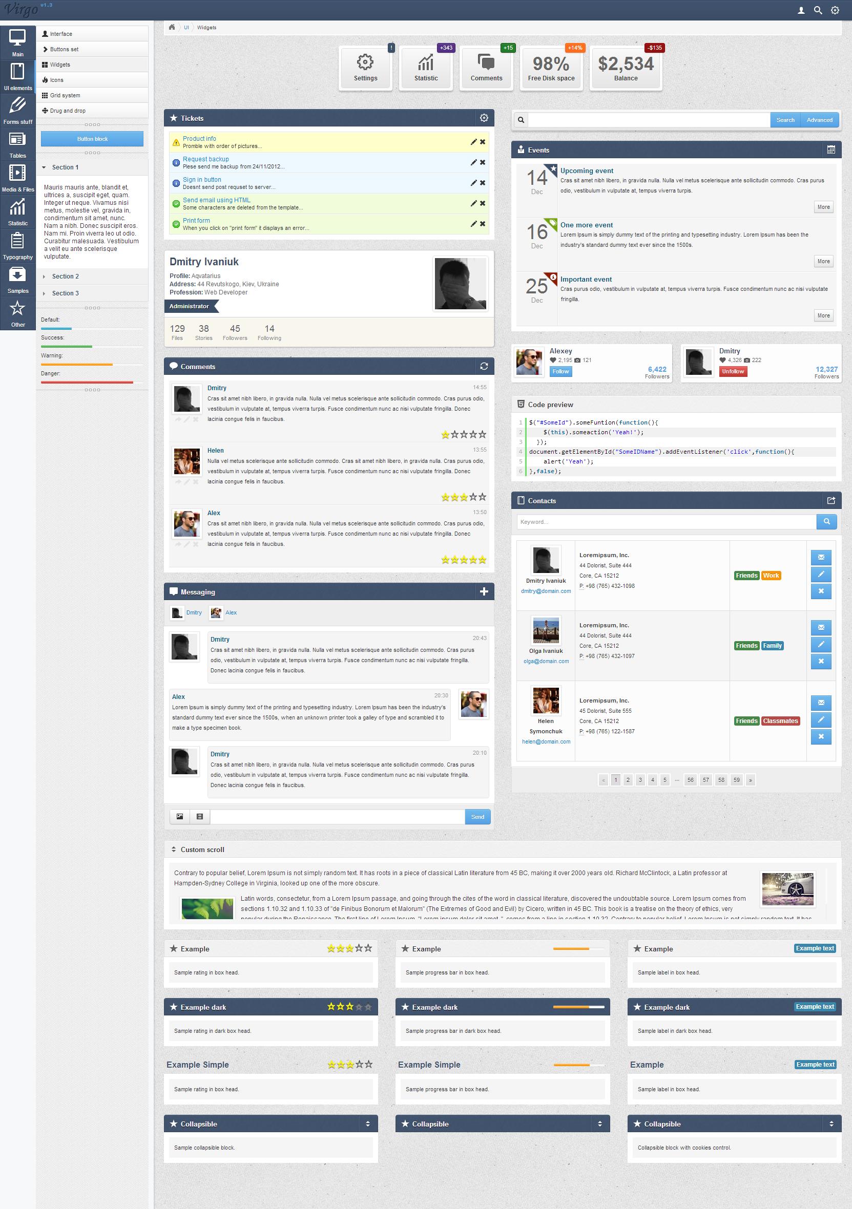Virgo - Premium Admin Template